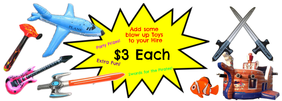 Blow Up Toys - $3 each